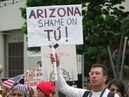 Arizona's neo-Nazi Rally in Support of Anti Immigration Law (SB1070) causes Chaos