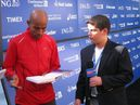 Meb Keflezighi NYC Marathon champion Interviewed by Adam Apsan, Sports Illustrated Kid Reporter